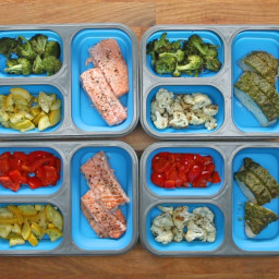 Chicken and Salmon Meal Prep Recipe by Tasty