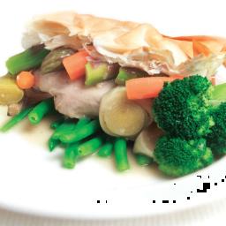 Chicken and vegie pie