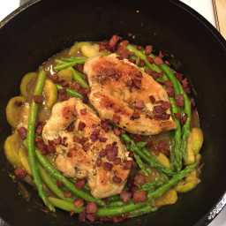 Chicken, Asparagus and Bacon Skillet