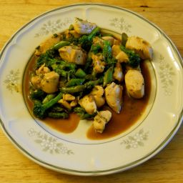 Chicken, Asparagus, and Broccoli Stir-Fry