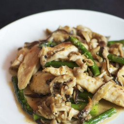 Chicken, Asparagus, and Wild Mushroom Stir-Fry