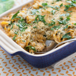 Chicken, Baby Artichoke and Spinach Casserolewith Gouda Béchamel