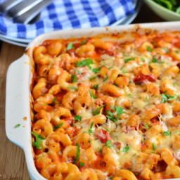 Chicken, Bacon and Tomato Pasta Bake