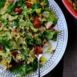 Chicken + Bacon Chopped Salad with Smoky Cilantro Avocado Dressing