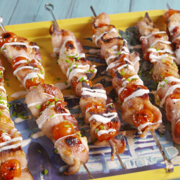 Chicken, Bacon, Ranch Skewers