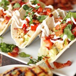Chicken BLT Tacos