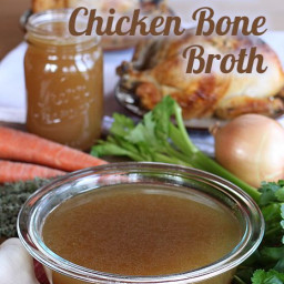 Chicken Bone Broth in A Slow Cooker