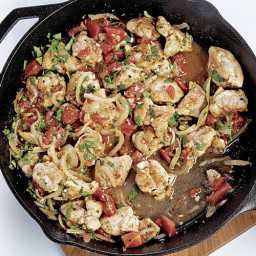 Chicken Braised with Red Wine Vinegar and Tomatoes