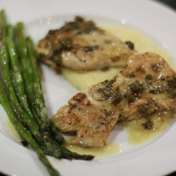 Chicken Breasts with Lemon Caper Sauce
