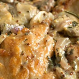 Chicken Breasts with Mushroom and Onion Dijon Sauce