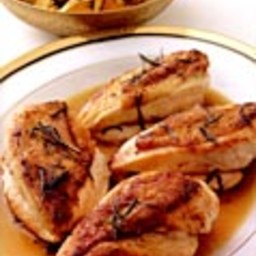Chicken Breasts with Rosemary and Chanterelles and Roasted Garlic Potatoes