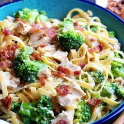 Chicken Broccoli Bacon Fettucini