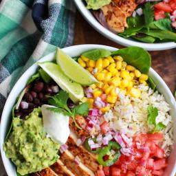 Chicken Burrito Bowl with Cilantro Lime Rice