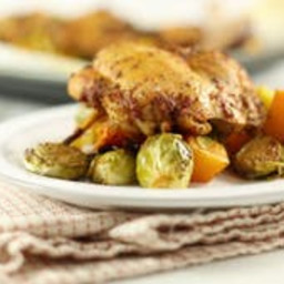 Chicken, Butternut Squash & Brussels Sprouts One Sheet Pan Meal