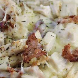 Chicken Caesar Pizza With Garlic Crust Recipe by Tasty
