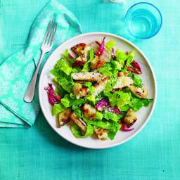 Chicken Caesar Salad with Garlicky Croutons