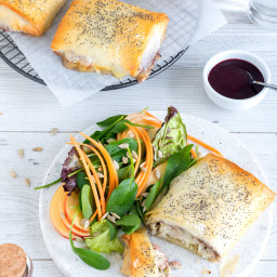 Chicken, Camembert and Cranberry Filo Pies Recipe