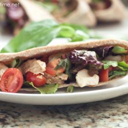 Chicken Caprese Salad Pita Pockets