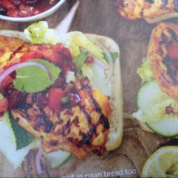 Chicken: chicken tikka fillet burgers