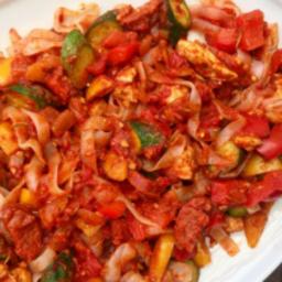 Chicken Chorizo Fettuccini (with NO CALORIE Noodles)