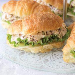 Chicken Cordon Bleu Salad on Croissants