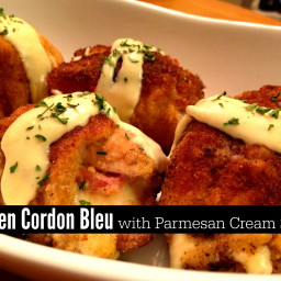 Chicken Cordon Bleu with Parmesan Cream Sauce