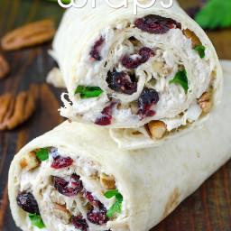 Chicken, Cranberry, Pecan Salad Wraps Recipe