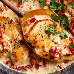 Chicken Cutlets with Sun-Dried Tomato Cream Sauce