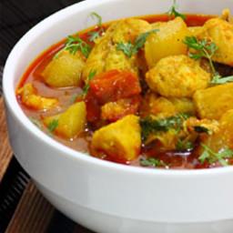 Chicken Dosakaya curry - chicken yellow cucumber curry