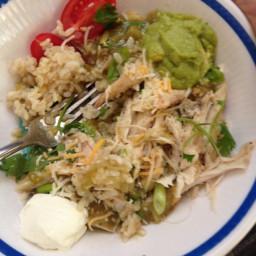 Chicken enchilada rice bowls