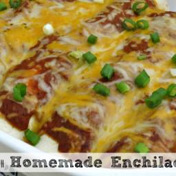 Chicken Enchilada Recipe with Homemade Enchilada Sauce
