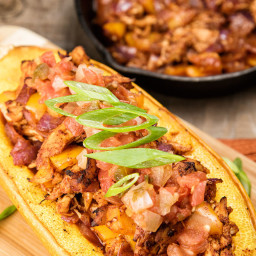 Chicken Enchilada Stuffed Squash Recipe