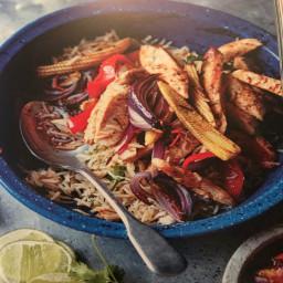 Chicken Fajita Fried Rice
