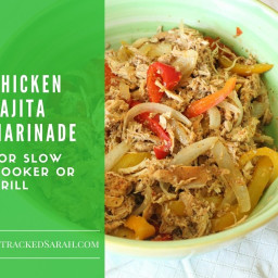 Chicken Fajita Marinade Recipe for Slow Cooker or Grill