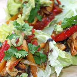Chicken Fajitas in Lettuce Leaves