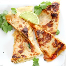 Chicken Fajitas Quesadillas