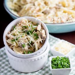 Chicken Farfalle Pasta with Mushrooms