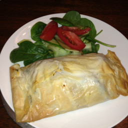 Chicken, Feta, Sinach, Pumpkin and Sundried Tomato Filo Parcels