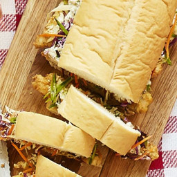 Chicken Finger Sub with Cabbage Slaw