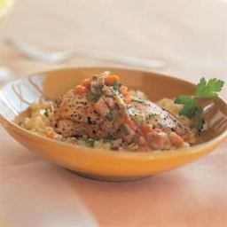 Chicken Fricassee with Orzo