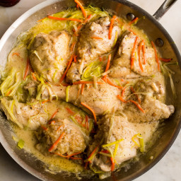 Chicken Fricassee With Vermouth