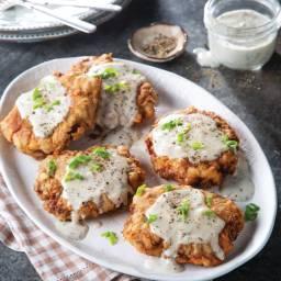 Chicken-Fried Hamburger Steak and Gravy