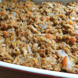 Chicken fried rice bubble up