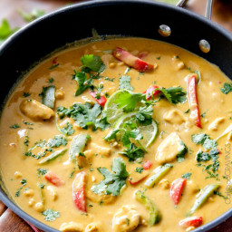 Chicken in Coconut Mango Verde Sauce