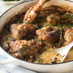 Chicken in White Wine Cream Sauce