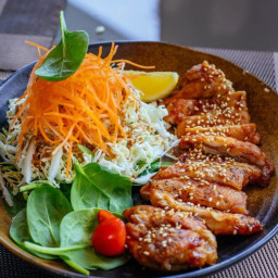 Chicken Katsu in Honey Glaze