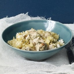 Chicken, Lemon, and Dill with Orzo