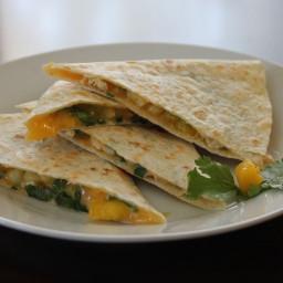 Chicken-Mango Quesadillas