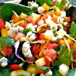 Chicken Mango Salsa Salad with Chipotle Lime Vinaigrette