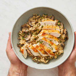 Chicken Marsala Risotto with Chives and Dijon